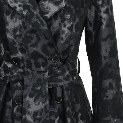 leopard pattern trench coat